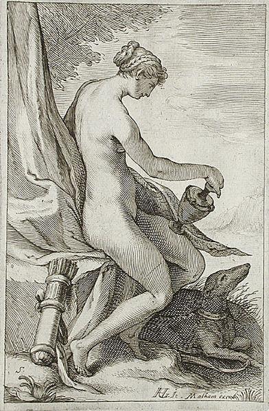 File:Nymph and Greyhound - Jacob Matham.jpg