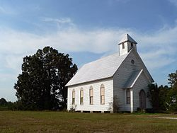 Historic Oaky Grove Methodist Church in Shotwell, North Carolina