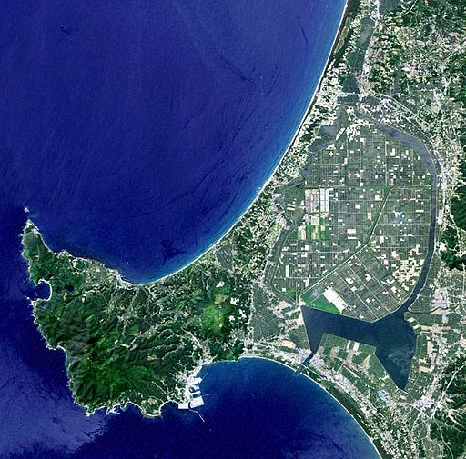 Oga Peninsula and Hachirogata Akita Japan SRTM