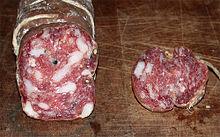 Un esempio di salame italiano: Salame genovese di Sant'Olcese.