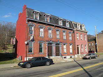Old Allegheny Rows Historic District - Near 904 California Avenue in the California-Kirkbride neighborhood of Pittsburgh, Pennsylvania