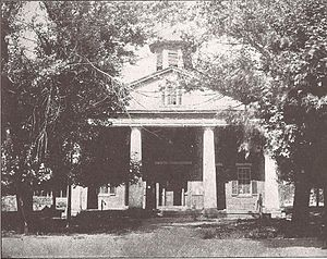 Barbour County Courthouse - The Old Barbour County Courthouse (1844-46) was on the same site as its successor. (Photo ca 1899.)