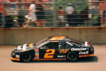 Wallace at Michigan in 1994 with his MGD paint scheme Old School NASCAR - Rusty Wallace 1994.jpg