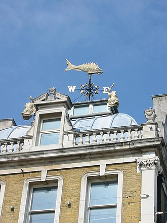 Old Billingsgate Market - Image: Old billingsgate london weathervane