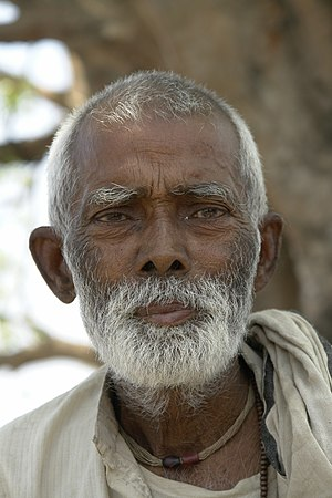 Old man, Bihar, India
