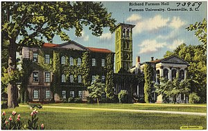 Furman University - Postcard of Furman University