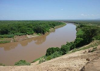 Omo River - Omo River near Omorati