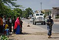 On foot patrol in Mogadishu with an AMISOM Formed Police Unit 04 (8171792000).jpg
