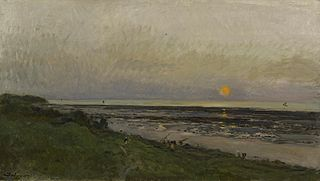 Sunset at Villerville