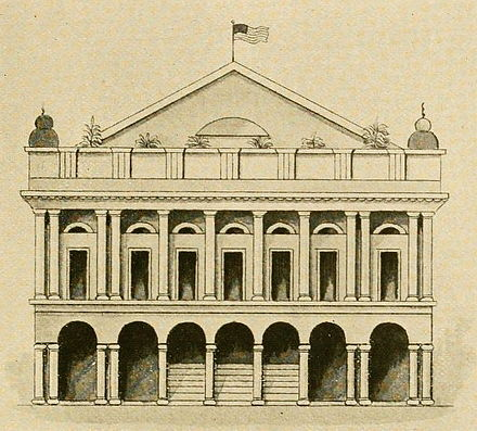The Théâtre d'Orléans, 1813 Orleans Theater New Orleans 1813.jpg