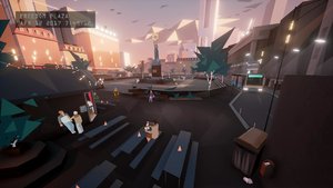 Orwell (video game) - The Freedom Plaza in Bonton, seen in the opening cutscene