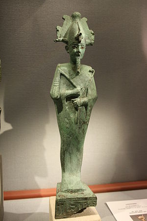 Osiris - Osiris with an Atef-crown made of bronze in the Naturhistorisches Museum (Vienna)