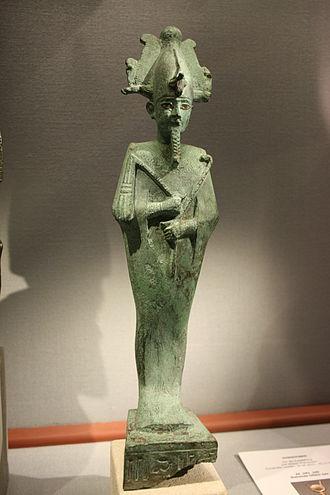 Osiris - Osiris with an Atef-crown made of bronze in the Naturhistorisches Museum (Vienna)