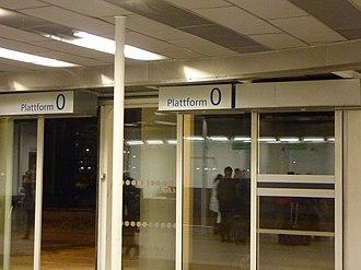 Railway platform - Oslo airport train station, Platform 0