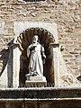 Osso de Cinca - Iglesia de Santa Margarita - Portada - Hornacina con Virgen.jpg