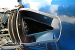 Outlet nozzle of sectioned Rolls-Royce Dart turboprop.jpg