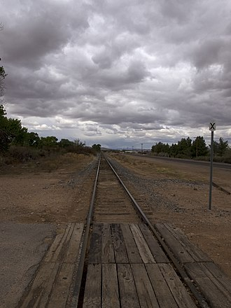 Overton, Nevada - Former St. Thomas branch of Los Angeles and Salt Lake Railroad in Overton.