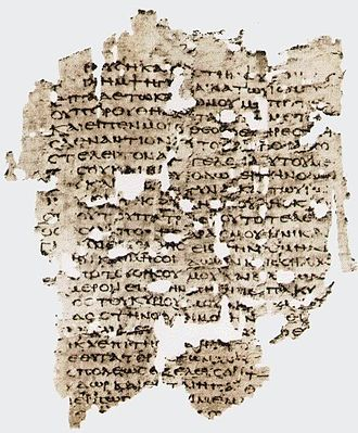 Papyrus Oxyrhynchus 656 - A fragment of Genesis.
