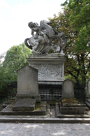 Jacques-Nicolas Gobert - Monument to General Gobert in Père Lachaise Cemetery by David d'Angers.