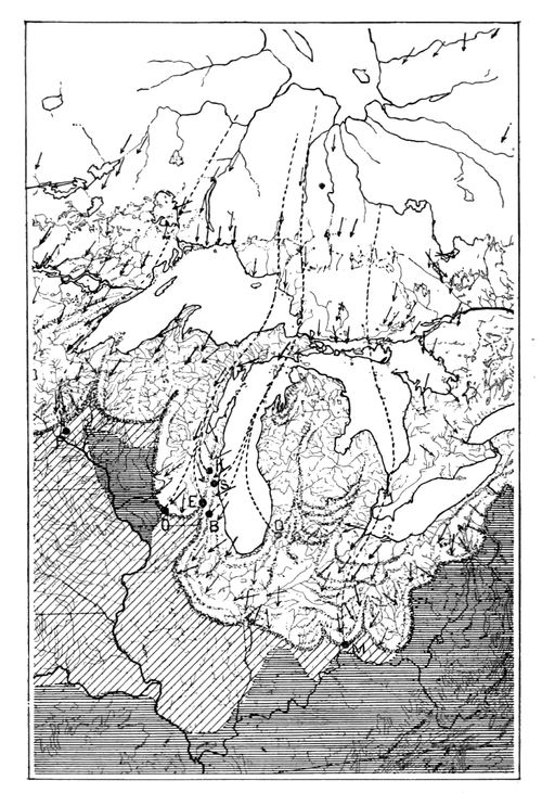 PSM V56 D0082 Glacial map of the great lakes region.png