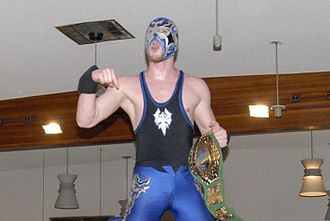 Quicksilver (wrestler) - Quicksilver as one-half of the PWG World Tag Team Champions in June 2005