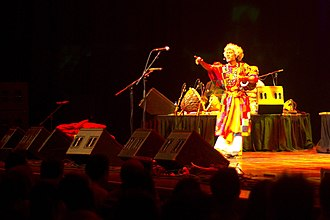Folk music - Paban Das Baul, baul singer at Nine Lives concert, 2009.