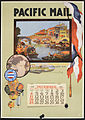 Pacific Mail- Pacific Mail Steamship Company- under American flag (American flag) (rbm-coll3020-02-01).jpg