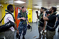 Pacific Partnership 2015 mission commander talks to Fiji media 150612-F-YW474-005.jpg