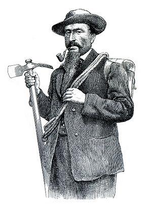 Michel Croz - Whymper's engraving of Michel Croz, 1865