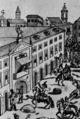 Palácio da Inquisição, Corpo de Deus 1808, com Junot na varanda principal.png