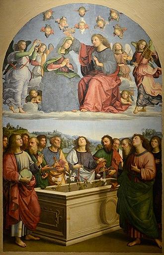 Oddi Altarpiece (Raphael) - Image: Pala degli Oddi (Raphael) September 2015 1a