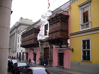 Balconies of Lima Spanish Colonial architectural features in Peru