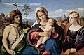 Palma il Vecchio (Jacopo Negretti) - Madonna and Child with Saint John the Baptist and Magdalene - Google Art Project.jpg