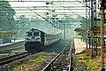 Palnadu Express at Ghatkesar railway station.jpg