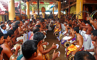 Panchavadyam - Panchavadyam Cherpulasseri Ayyappan Kaavu, Kerala, India