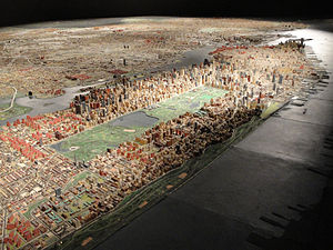 Queens Museum - The Panorama of the City of New York, as it appeared in 2011
