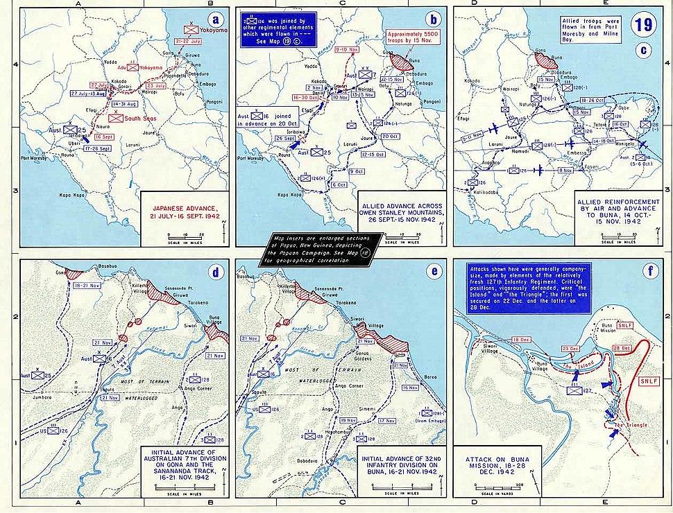 Papua Campaign maps