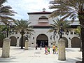 Parking deck near Visitor Information Center, St. Augustine.JPG