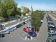 Parking de la gare côté Moulins