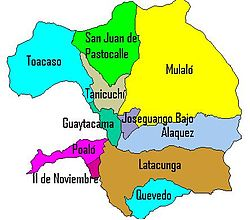 Parishes of Latacunga Canton