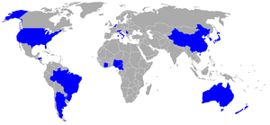 Football at the 2008 Summer Olympics – Men's tournament - Countries of men's tournament