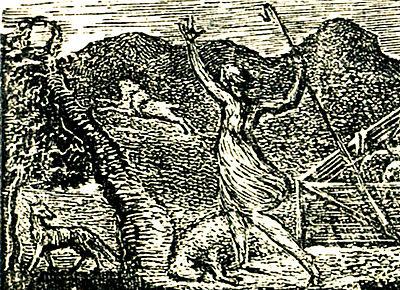 Pastorals of Virgil, Eclogue I proof impression (2) 1820 (Butlin 504) detail.jpg