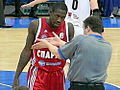 Patrick Beverley talk to referee.JPG