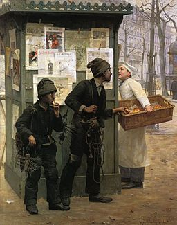 Paul-Charles Chocarne-Moreau Opportunity makes the thief 1896