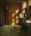 Paul Eugene Gorge Interieur eines flämischen Hauses bei nachmittäglicher Ruhe.jpg