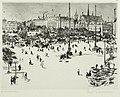 Paul Paeschke - Leipzig, Augustusplatz, Universität & Paulinerkirche, 1915.jpg