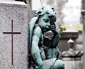 Detail of a tomb at the Père Lachaise cemetery...