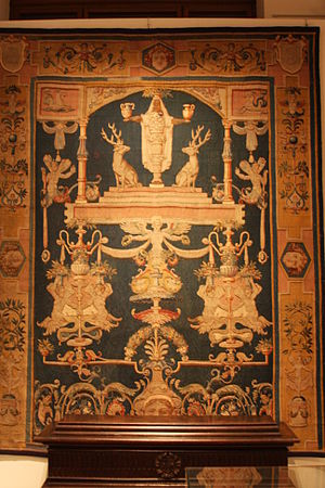 Brussels tapestry - Diana of Ephesus, after a cartoon by Perino del Vaga, Brussels, 1545, woven for Andrea Doria of Genoa (Nationalmuseum, Stockholm)