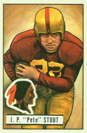 Pete Stout - Stout on a 1951 Bowman football card