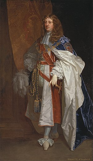 Edward Montagu, 1st Earl of Sandwich -   Edward Montagu, 1st Earl of Sandwich, Portrait of Edward Montagu by Peter Lely,  ca. 1660-65.